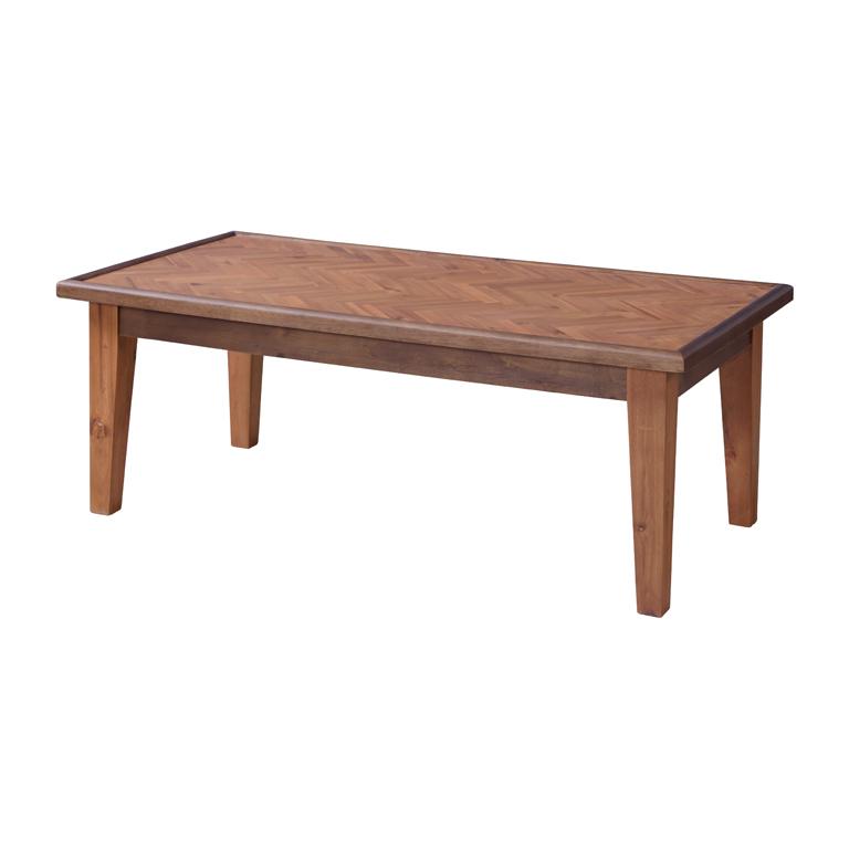 ヘリンボーン模様が美しいセンターテーブル/BR