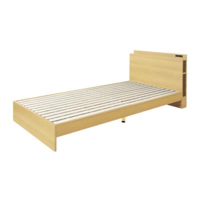 便利な収納棚付きシングルベッドフレーム/NA