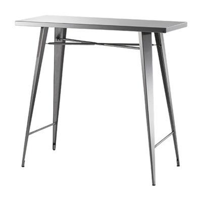 高級感ある程よい光沢のステンレスカウンターテーブル