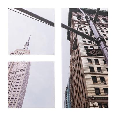 壁かけのアートパネルでマンハッタンの街並みを味わう(3枚セット)