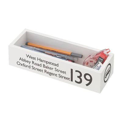 かっこいいを作るバスロールサインのカトラリーボックス/WH