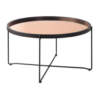 ラウンド型鏡面トレーテーブル