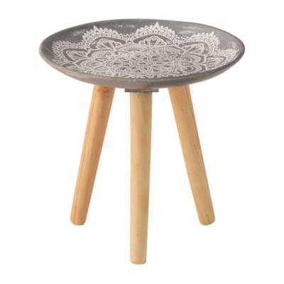 モロッコ調の模様が美しいマルチトレーテーブル(S)/GY
