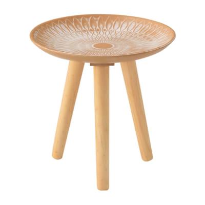 モロッコ調の模様が美しいマルチトレーテーブル
