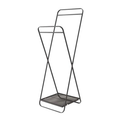 コンパクトになる折りたたみハンガーラック/BK