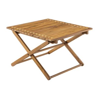 本革を使用した本格ロールトップテーブル高さ40(M)/BR