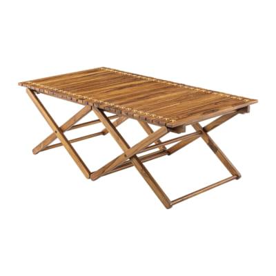 本革を使用した本格ロールトップテーブル高さ40(L)/BR