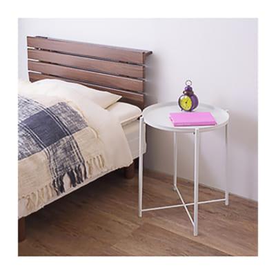 マットな質感のシンプルなトレーサイドテーブル/WH