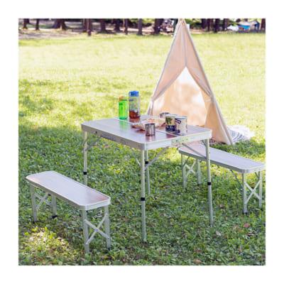 折りたたみアウトドアテーブル&ベンチセット